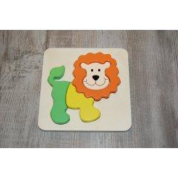 Houten puzzel - Leeuw