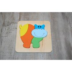 Houten puzzel - Nijlpaard